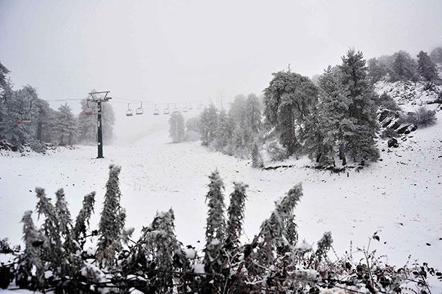 Trodos'tan Kar Manzaraları galerisi resim 3