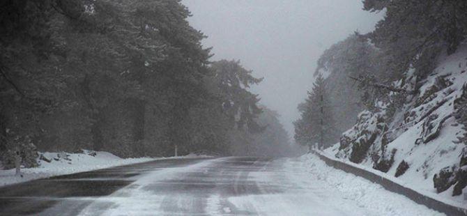 Trodos'tan Kar Manzaraları