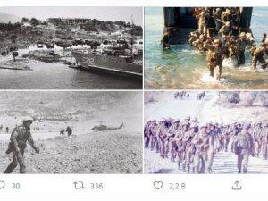 MSB'den Kıbrıs Barış Harekatı'nın tarihi fotoğrafları