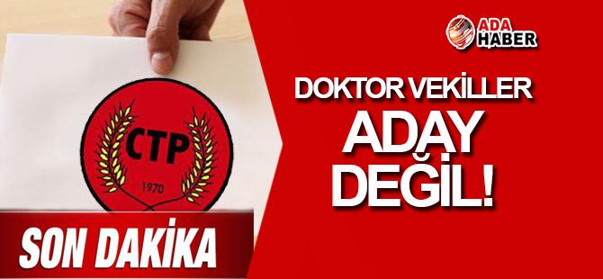 4 doktor milletvekili ADAY DEĞİL!
