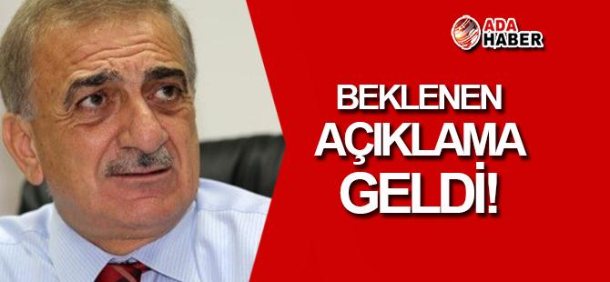 Arabacıoğlu aday olmayacağını açıkladı!