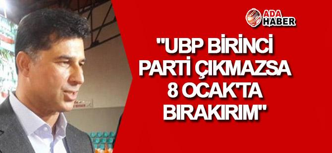 """Özgürgün: """"UBP birinci parti çıkmazsa 8 Ocak'ta bırakırım"""""""