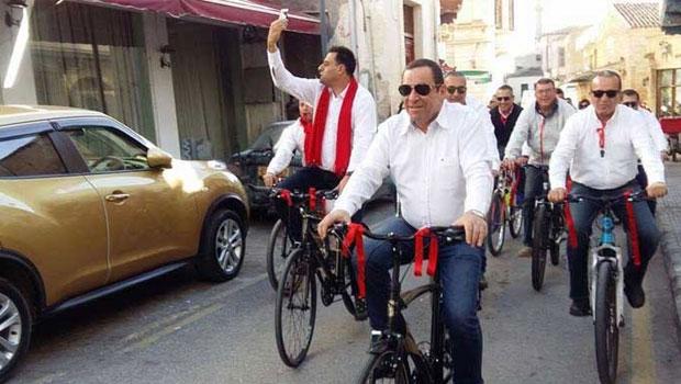 DP seçim startını bisiklet turuyla yaptı
