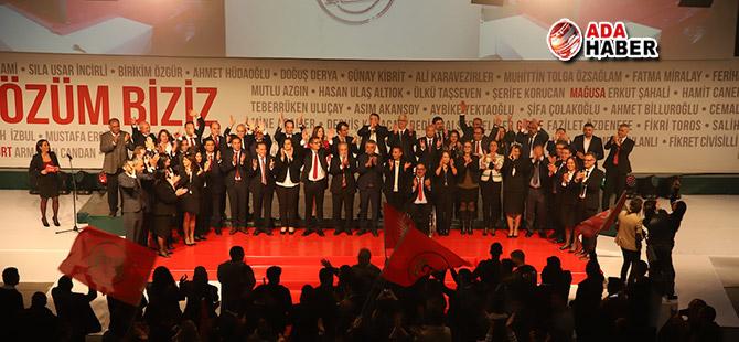 CTP adayları, tanıtım şöleninde halkla buluştu