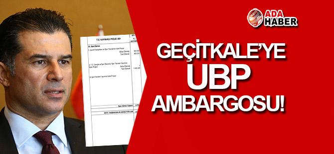 Geçitkale'ye UBP ambargosu!