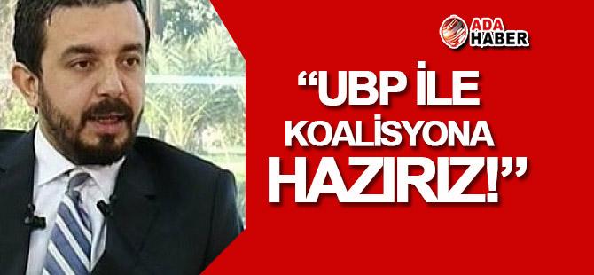 Zaroğlu: UBP ile koalisyona varız!