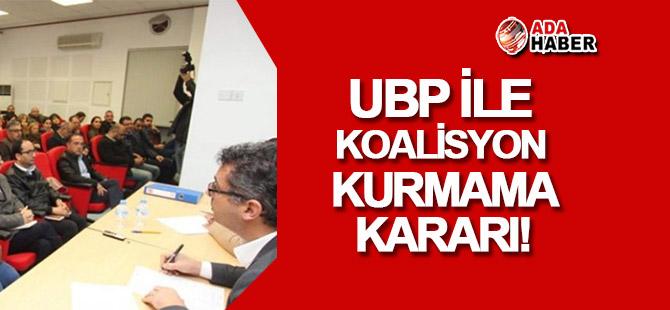 CTP: UBP ile koalisyon mümkün değil!