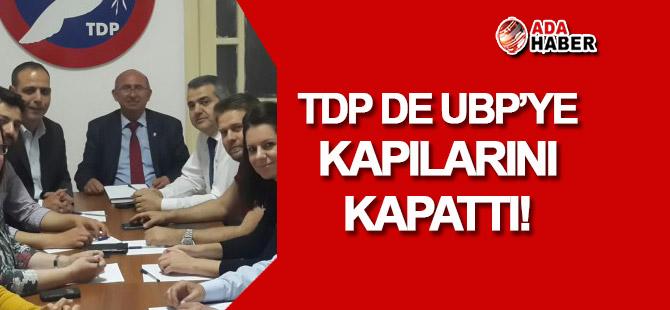 TDP de UBP'ye koalisyon kapılarını kapattı!
