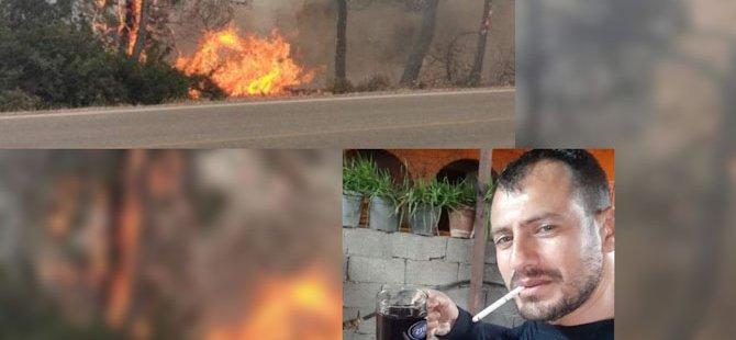 Ormanı yakmaya çalışan kişi Akdeniz köyünden çıktı