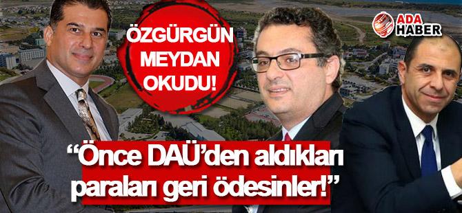 Özgürgün'den Erhürman ve Özersay'a suçlama!
