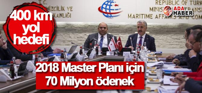 KKTC 2018 Master Planı için 70 Milyon TL ödenek