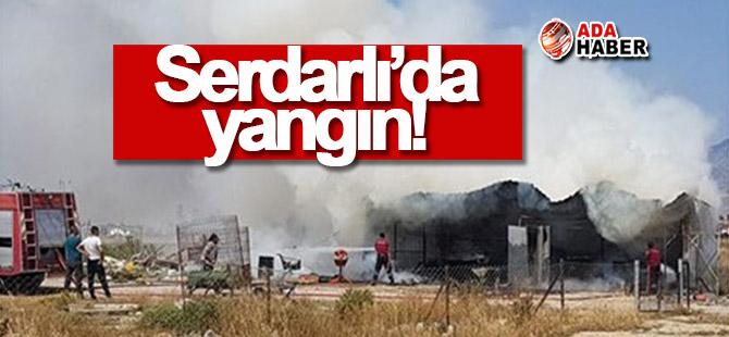 Serdarlı'da yangın!