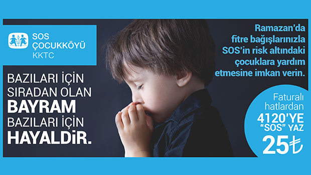 Ramazan'da fitre bağışlarınızı SOS Çocuklarına verin