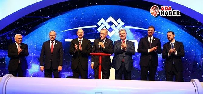 Cumhurbaşkanı Akıncı, TANAP'ın açılış törenine katıldı