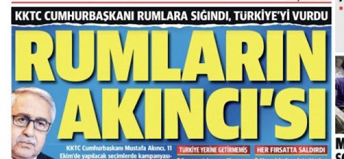 """Türkiye Medyası: Rumların Akıncı'sı seçim stratejisini """"Türkiye düşmanlığı"""" üzerine kurdu"""
