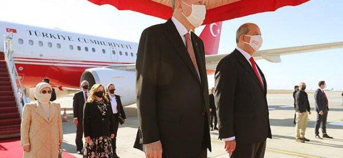 Cumhurbaşkanı Erdoğan'dan KKTC'ye tarihi ziyaret