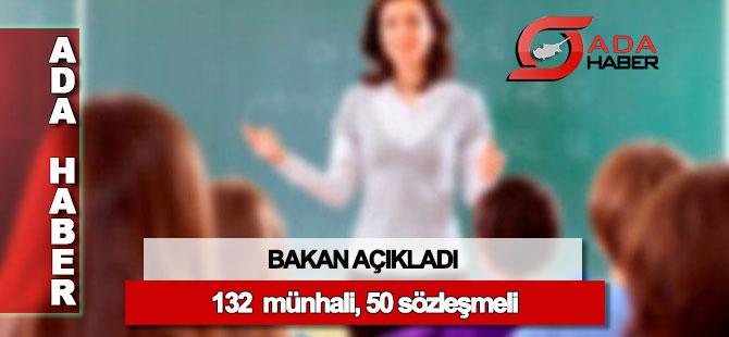 132 öğretmen münhali, 50 sözleşmeli öğretmen
