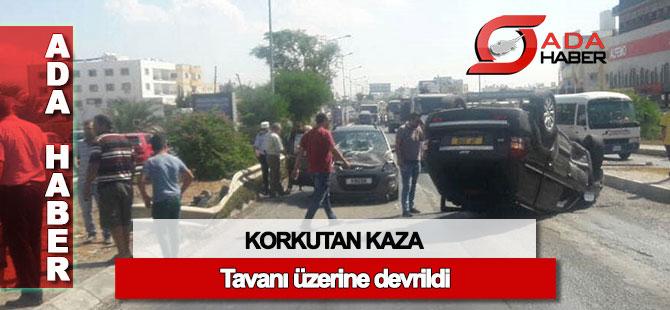 Lefkoşa'daki kazada bir kişi yaralandı
