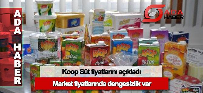 Koop Süt ürünlerinin fiyatlarını açıkladı