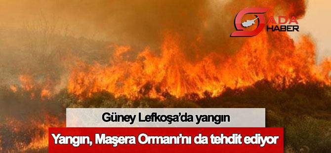 Güney Lefkoşa'da yangın