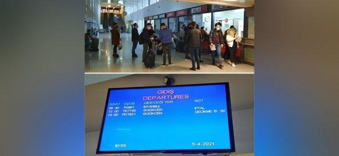 Grev nedeniyle uçuşlar etkilendi