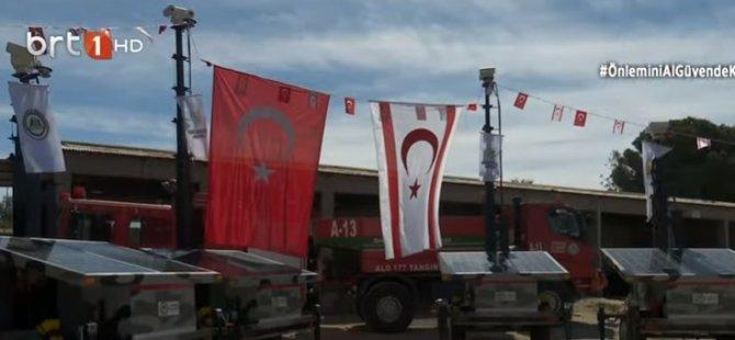 Türkiye'den hibe edilen yangın gözetleme kameraları ile mobil güneş panelleri teslim edildi