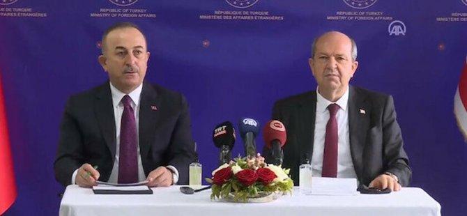 Tatar ve Çavuşoğlu'ndan Cenevre'de ortak açıklama