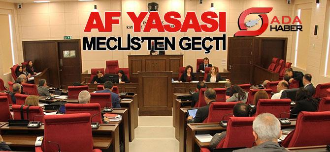 Yükseköğretimde Af Yasası kabul edildi