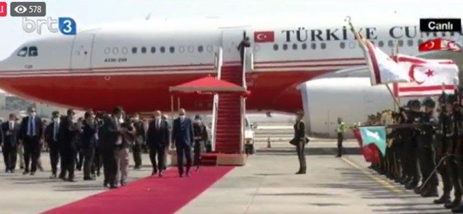 Türkiye Cumhurbaşkanı Recep Tayyip Erdoğan KKTC'de