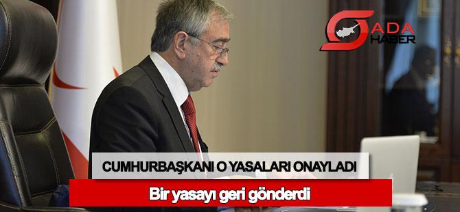 Cumhurbaşkanı Akıncı, o yasayı Meclis'e iade etti