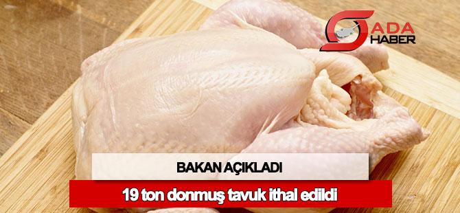 19 ton donmuş tavuk ithal edildi