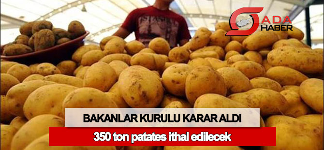 350 ton patates ithal edilecek