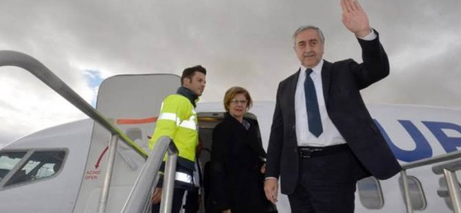 Akıncı, Yeni Havalimanı açılış töreni için istanbul'a gitti