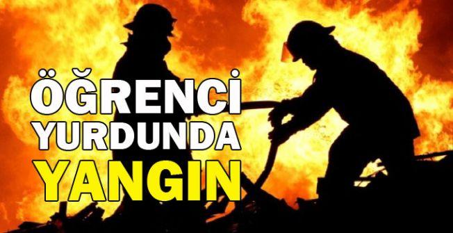 DAÜ'de öğrenci yurdunda yangın