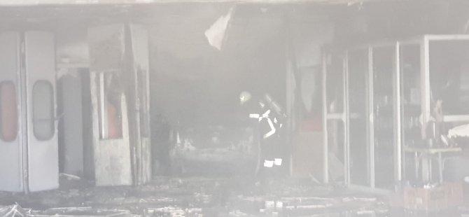 Hamitköy'deki Capital Auto'da yangın