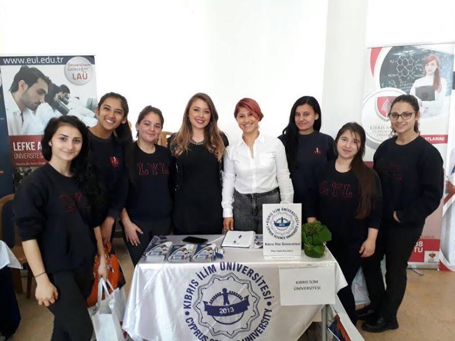 Kıbrıs İlim Üniversitesi Lapta Yavuzlar Lisesinde Tanıtım yaptı