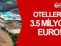 KKTC'deki otellere 3.5 Milyon Euro!