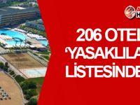 KKTC'deki 206 otel 'YASAKLILAR LİSTESİNDE'