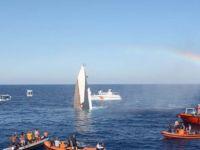 Alsancak açıklarında gemi batırıldı