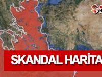 Skandal harita yayınlandı!