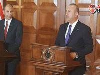 Çavuşoğlu ile Özersay ortak basın toplantısı düzenledi