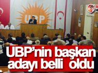 UBP'nin başkan adayı belli oldu!