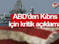 ABD'den Kıbrıs için kritik açıklama