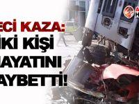 FECİ KAZA: Kamyon aracı ezdi: İki kişi hayatını kaybetti!