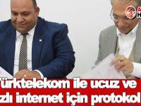 Türktelekom ile ucuz ve hızlı internet için protokol imzalandı
