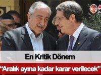 """Kıbrıs konusunda yeniden """"en kritik dönem"""""""