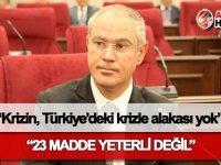 Hasipoğlu: Krizin, Türkiye'deki krizle alakası yok