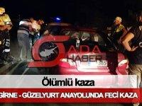 SON DAKİKA: Girne - Güzelyurt yolunda ölümlü kaza!