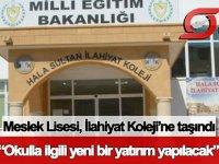 Haspolat Meslek Lisesi, Hala Sultan İlahiyat Koleji'ne taşındı