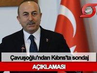 Çavuşoğlu'ndan Kıbrıs'ta sondaj açıklaması